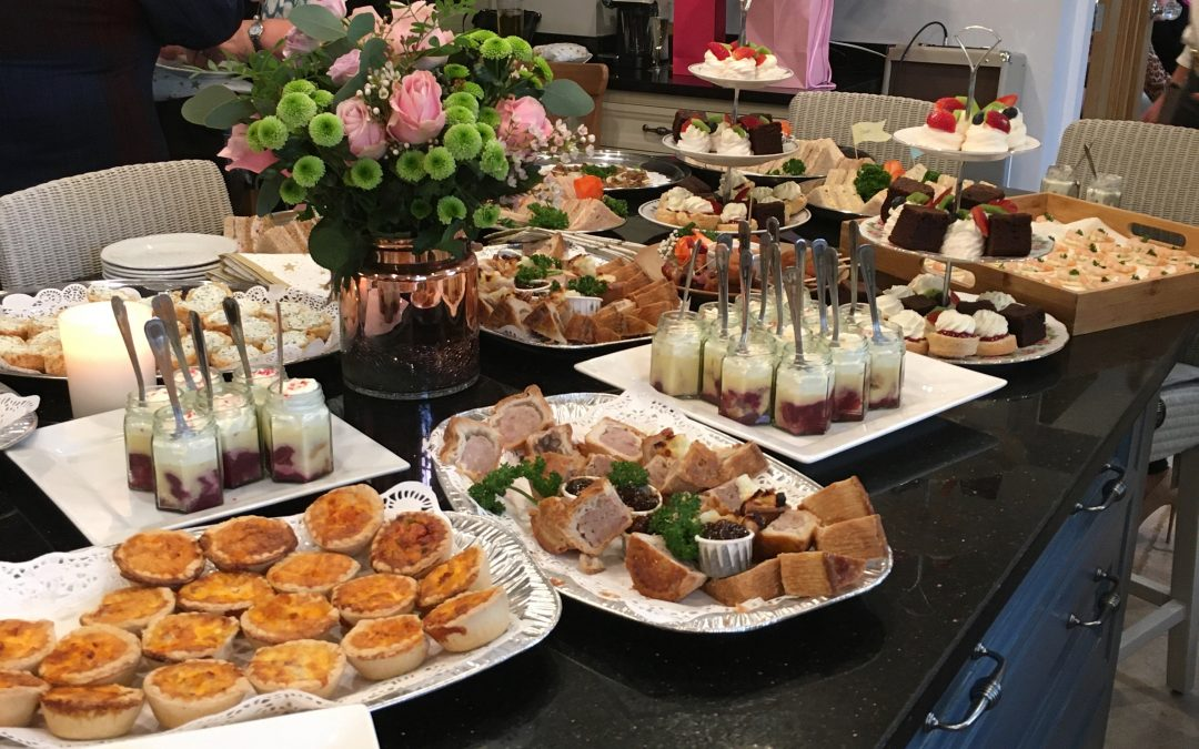 Canapés and Buffet for an 80th Birthday Celebration
